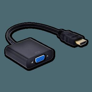 HDMI naar VGA (+ Audio) Adapter met Extra Voeding - Zijkant