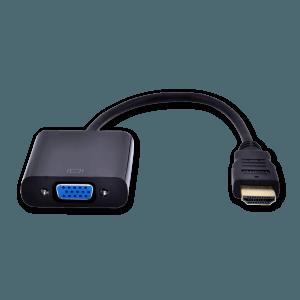 HDMI naar VGA (+ Audio) Adapter met Extra Voeding - Voorkant