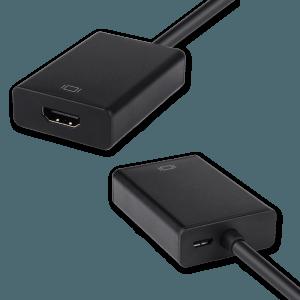 VGA (+ Audio) naar HDMI Adapter - HDMI Aansluiting (Vrouwelijk)