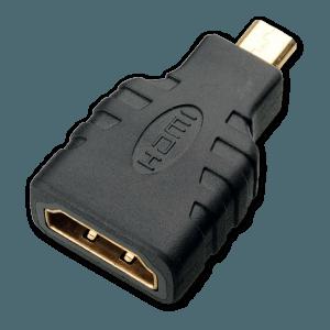 Micro HDMI naar HDMI Verloopstekker - Bovenkant