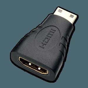 Mini HDMI naar HDMI Verloopstekker - Bovenkant