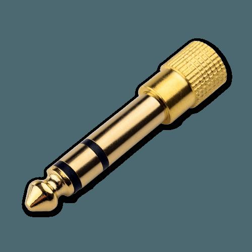 Jack Plug - 6.3mm naar 3.5mm - 6.3mm Aansluiting (Mannelijk)