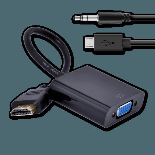 HDMI naar VGA (+ Audio) Adapter met Extra Voeding