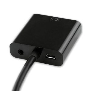 HDMI naar VGA (+ Audio) Adapter met Extra Voeding - Achterkant VGA Aansluiting