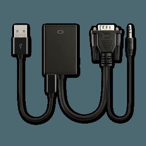 VGA (+ Audio) naar HDMI Adapter - Voorkant
