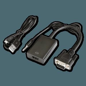 VGA (+ Audio) naar HDMI Adapter - Zijkant