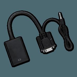 VGA (+ Audio) naar HDMI Adapter - Boven