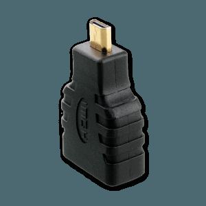 Micro HDMI naar HDMI Verloopstekker - Zijkant