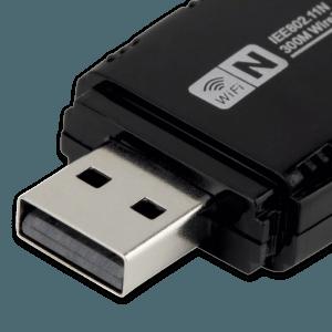 WiFi Adapter met Antenne - USB Aansluiting (Mannelijk)
