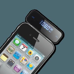 FM Transmitter - Aangesloten op iPhone
