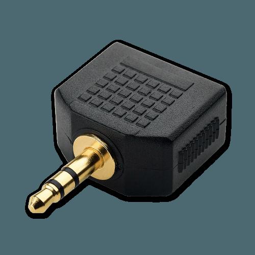 Audio Splitter - 3.5mm Jack - AUX Aansluiting (Mannelijk)