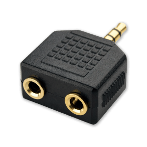 Audio Splitter - 3.5mm Jack - 2 x AUX Aansluiting (Vrouwelijk)